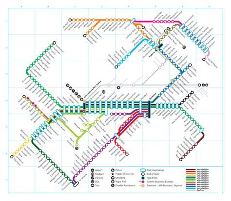 metrorail map official map gauteng metrorail south africa transit maps
