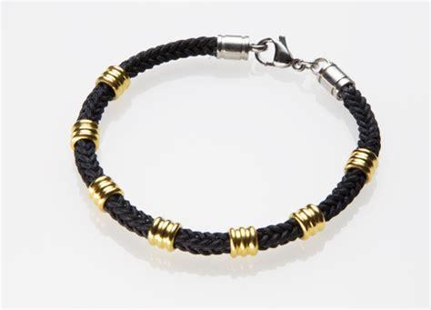 Pu02 Rubber Black List Gold men s leather bracelets and rubber bangles