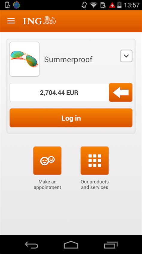 ing bank banking ing smart banking android apps on play