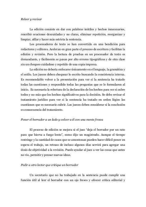 judicial writing manual organizaci 243 n y redacci 243 n de la sentencia