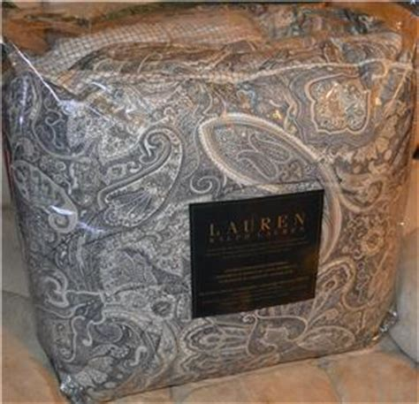 ralph lauren coral beach ralph coral black paisley comforter new 1st quality ebay