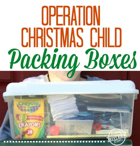 how to pack operation christmas child boxes