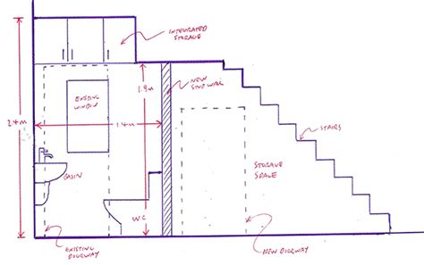 minimum size for bathroom with shower planning a downstairs toilet under the stairs with