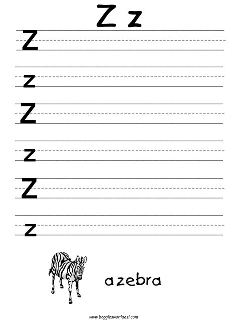 5 Letter Words Y O U T H letter z alphabet worksheets