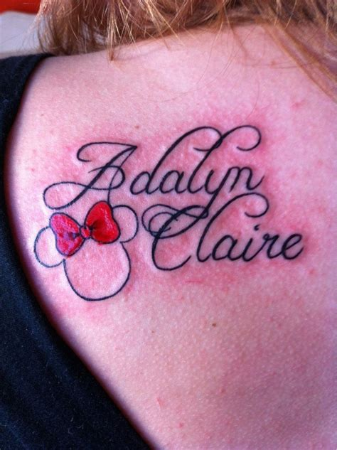 daughters name tattoo best 25 mouse tattoos ideas on mouse