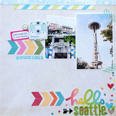 scrapbook layout with layers hello seattle scrapbook com layer mini photos with a