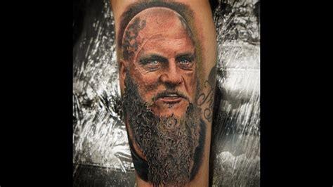 ragnar tattoo timelapse ragnar lothbrok