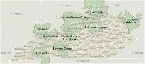 map kentucky area codes metro area zip code maps of kentucky
