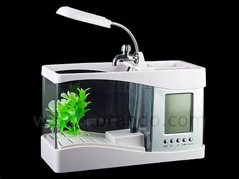 Usb Aquarium usb aquarium with alarm clock and thermometer