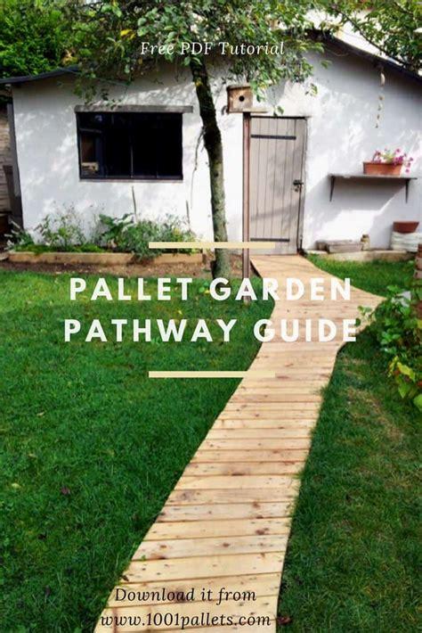 diy  tutorial pallet garden pathway  pallets