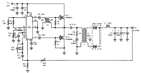 switching power supply circuit diagram wiring diagram