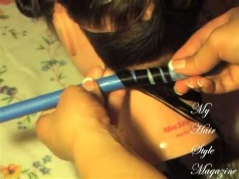 spiral perm diy pt 2 of 4 how to perm at home spiral basic and