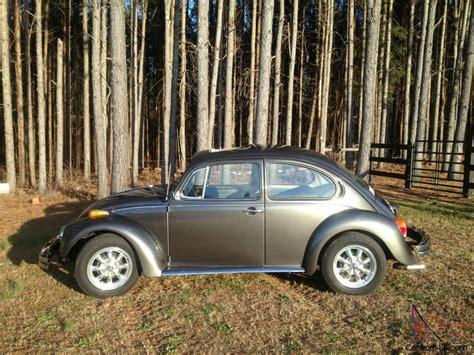 grey volkswagen bug volkswagen bug 1977 beetle charcoal grey standard sun roof