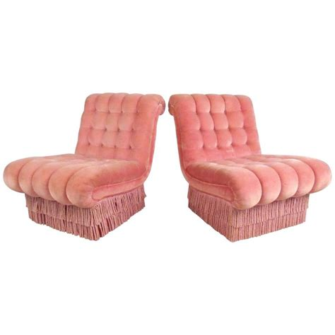 slipper chairs for sale pair of vintage boudoir slipper chairs for sale at 1stdibs