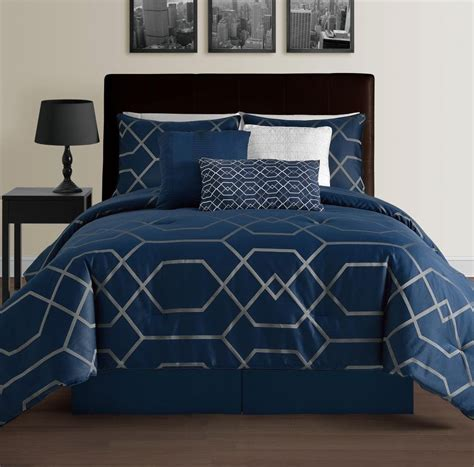 geometric comforters hton 7 piece modern geometric down alternative