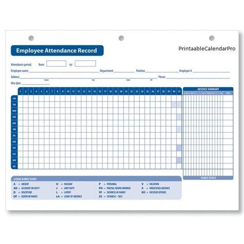 Employee Attendance Calendar 2017 Employee Attendance Tracker Attendance Record Attendance Sheet Free 2018 Employee Attendance Calendar Templates At Allbusinesstemplates