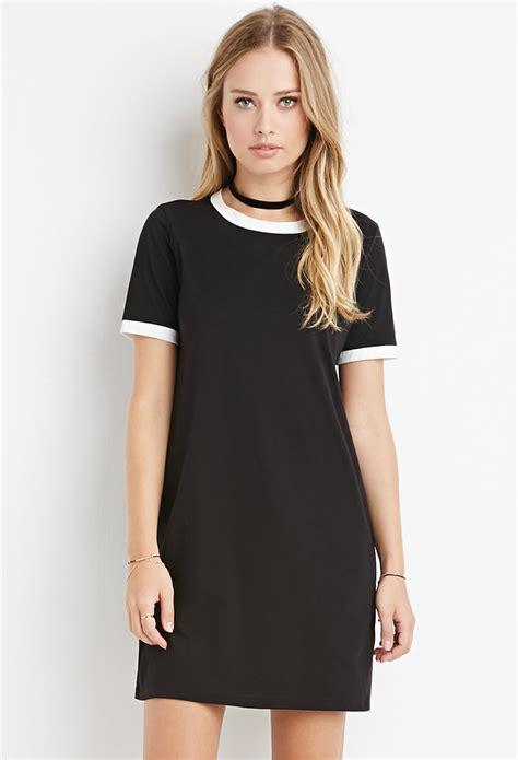 ringer  shirt dress  black lyst