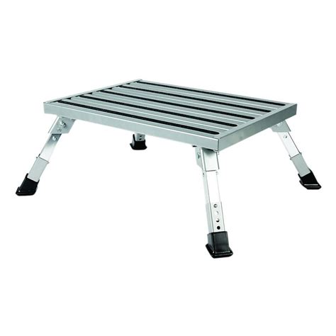 camco step stool aluminum platform step adjustable