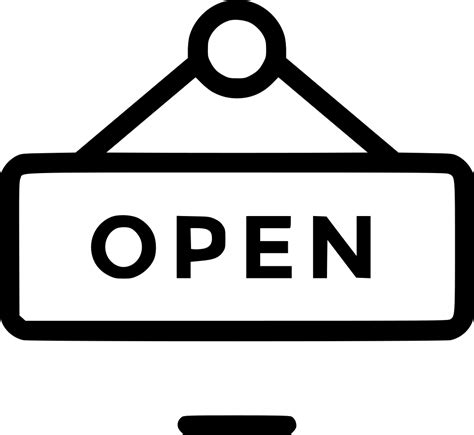 board hanger open shop sign signboard store svg png icon