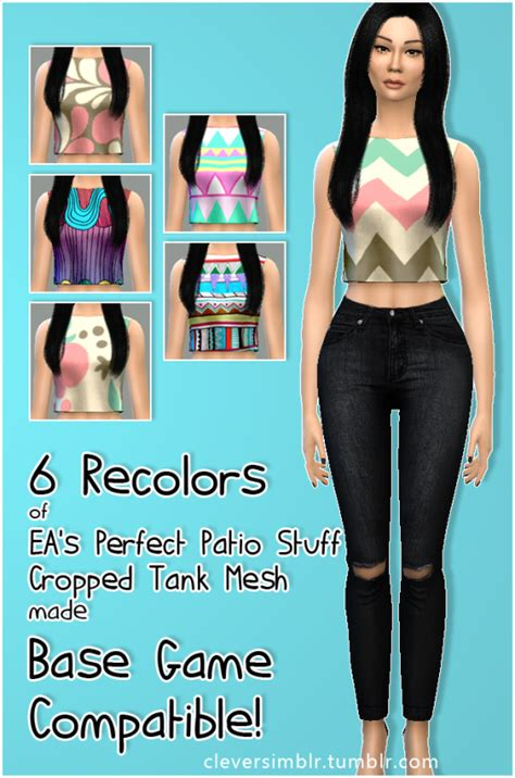 my sims 4 blog base game book recolors by inabadromance my sims 4 blog base game compatible pps cropped tank