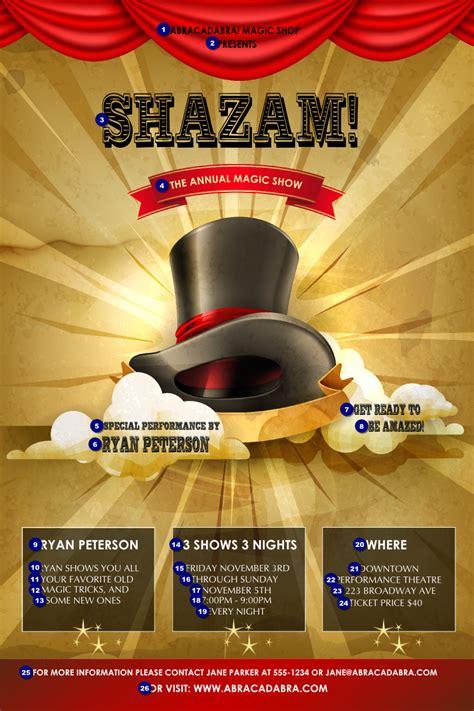 magic show poster ticketprintingcom
