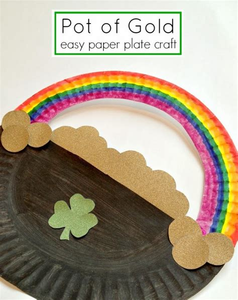 s day paper crafts st s day paper plate rainbow crafts