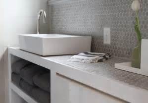 penny tiles: gray penny tile backsplash contemporary bathroom molly frey