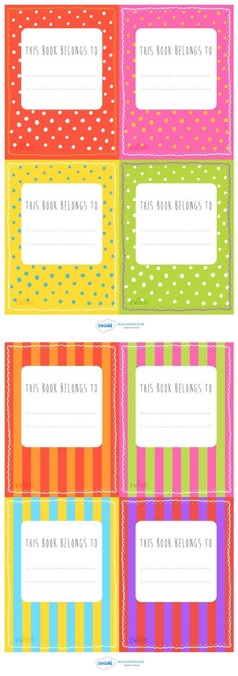 printable book labels ks2 the 25 best name labels ideas on pinterest student name