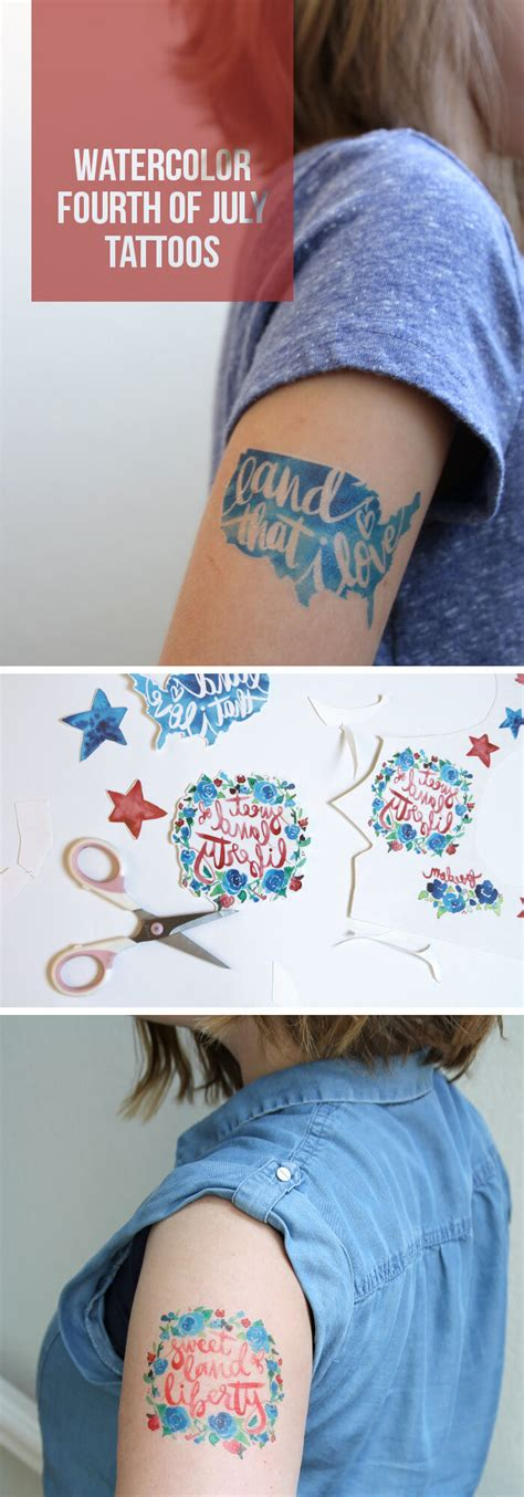 diy temporary tattoos make watercolor fourth of july temporary tattoos lou
