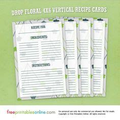 drop cards template free editable in ms word recipe card template