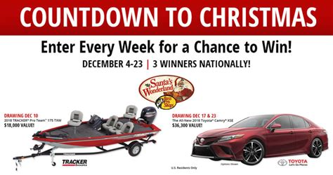 Bass Pro Sweepstakes 2017 - bass pro shops countdown to christmas sweepstakes 2017