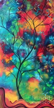 Ordinary Canvas Artwork #2: Bold-rich-colorful-landscape-painting-original-art-colored-inspiration-by-madart-megan-duncanson.jpg