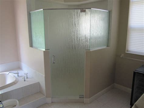 frosted shower glass doors frosted glass and mirrors in ft myers fl