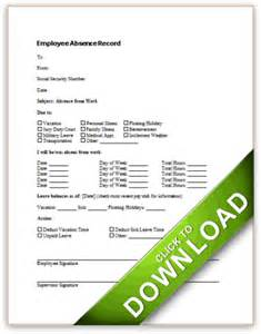 employee absence record