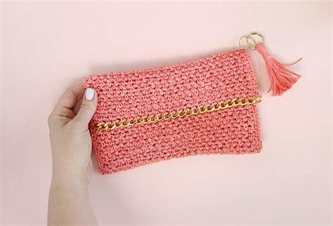 pattern crochet clutch chain edge raffia crochet clutch pattern persia lou