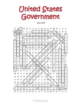 Us Government Search Us Government Word Search Puzzle By Puzzles To Print Teachers Pay Teachers