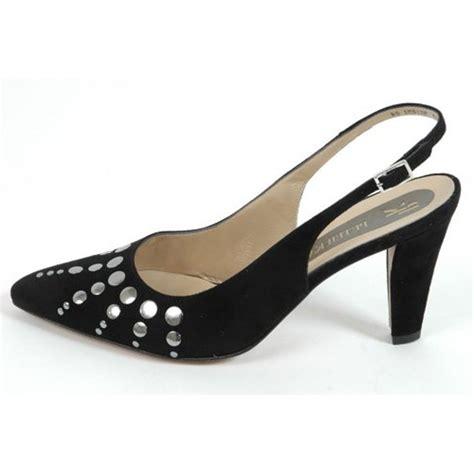 back shoes kaiser venus l black suede sling back dressy shoes