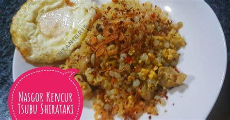resep nasi goreng shirataki enak  sederhana cookpad