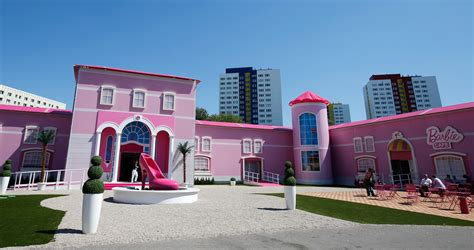 barbie dreamhouse doll house photos of the ridiculous life sized barbie dreamhouse in berlin business insider
