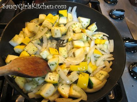 sauteing squash and onion great food it s really not that complicated