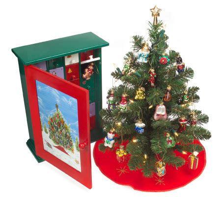thomas pacconi advent cabinet w prelit tree 24