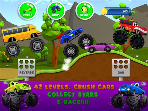 monster truck games videos for kids monster trucks game for kids 2 android apps on google play