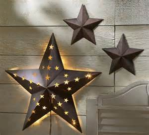 Metal Star Home Decor 3 Pc Rustic Metal Barn Star Set Wall Art Home Decor New