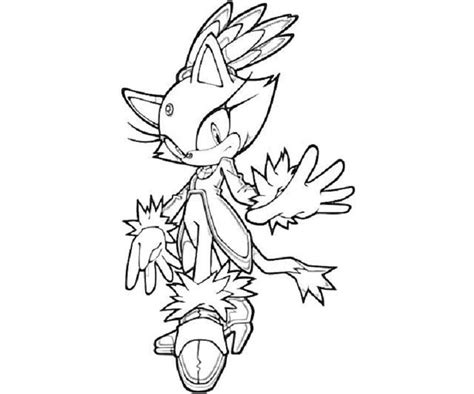 sonic coloring pages blaze cartoon pinterest cartoon