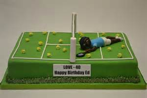 Large tennis court cake with model celebration cakes cakeology