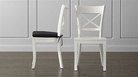 White Wood Dining Chairs Vintner White Wood Dining Chair And Cushion Crate And Barrel