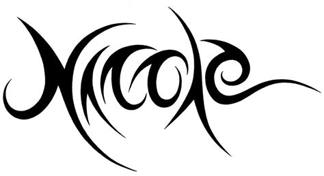 nicole tattoo designs tribal name design by jsharts on deviantart