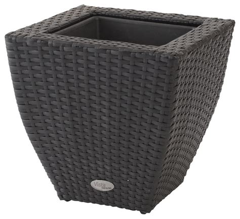 Resin Wicker Planters by Vista Planter Resin Wicker 22 Quot Square With Curve