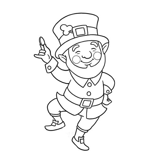 leprechaun coloring page leprechaun coloring pages