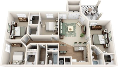 Floor Plans With 2 Master Bedrooms by One Two Three And Four Bedroom Apartments In Round Rock